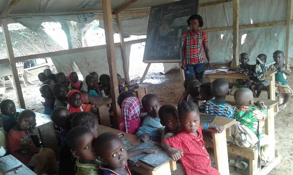 Schule im Flüchtlingscamp Alindao