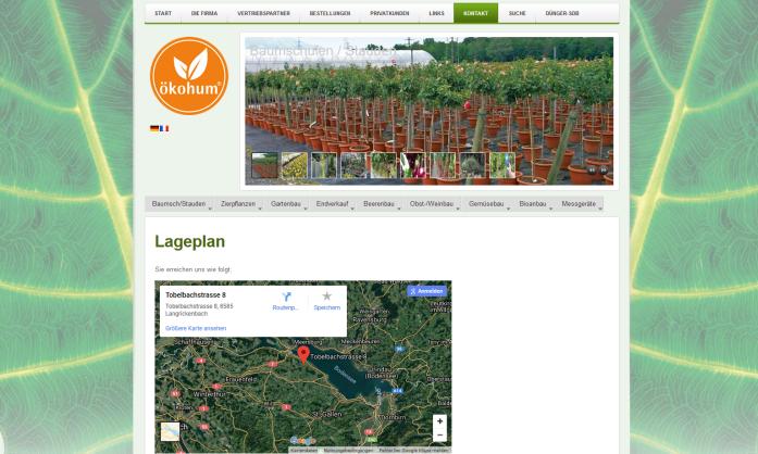Webseite Oekohum