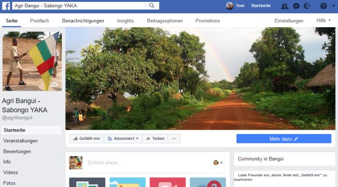 Screenshot facebook Startseite